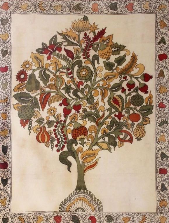 fruits-kalamkari